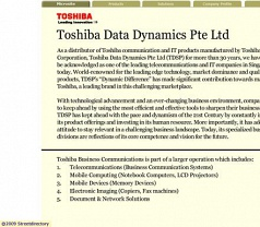 Toshiba Data Dynamics Photos