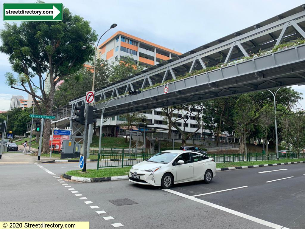 Overhead Pedestrian Bridge Clementi MRT Station