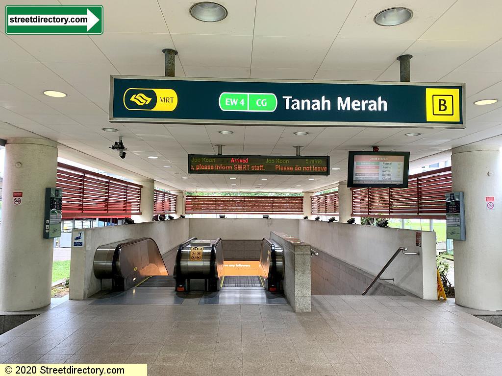 Entrance/Exit B - Tanah Merah MRT Station (EW4)