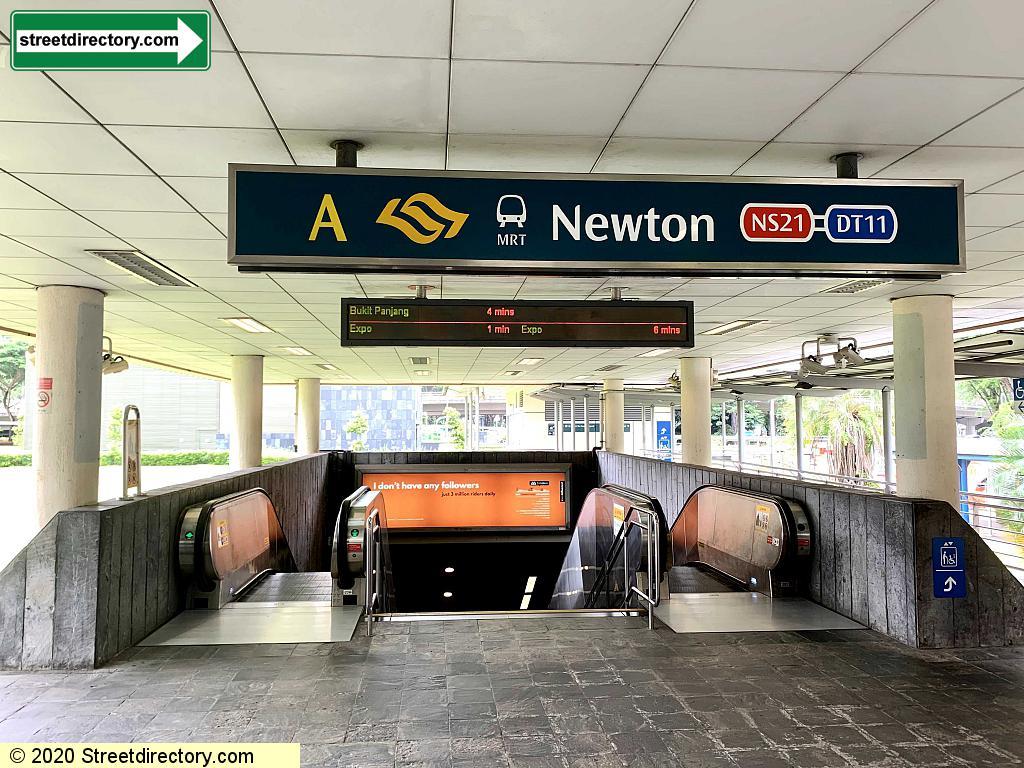 Entrance/Exit A - Newton MRT (NS21 / DT11)