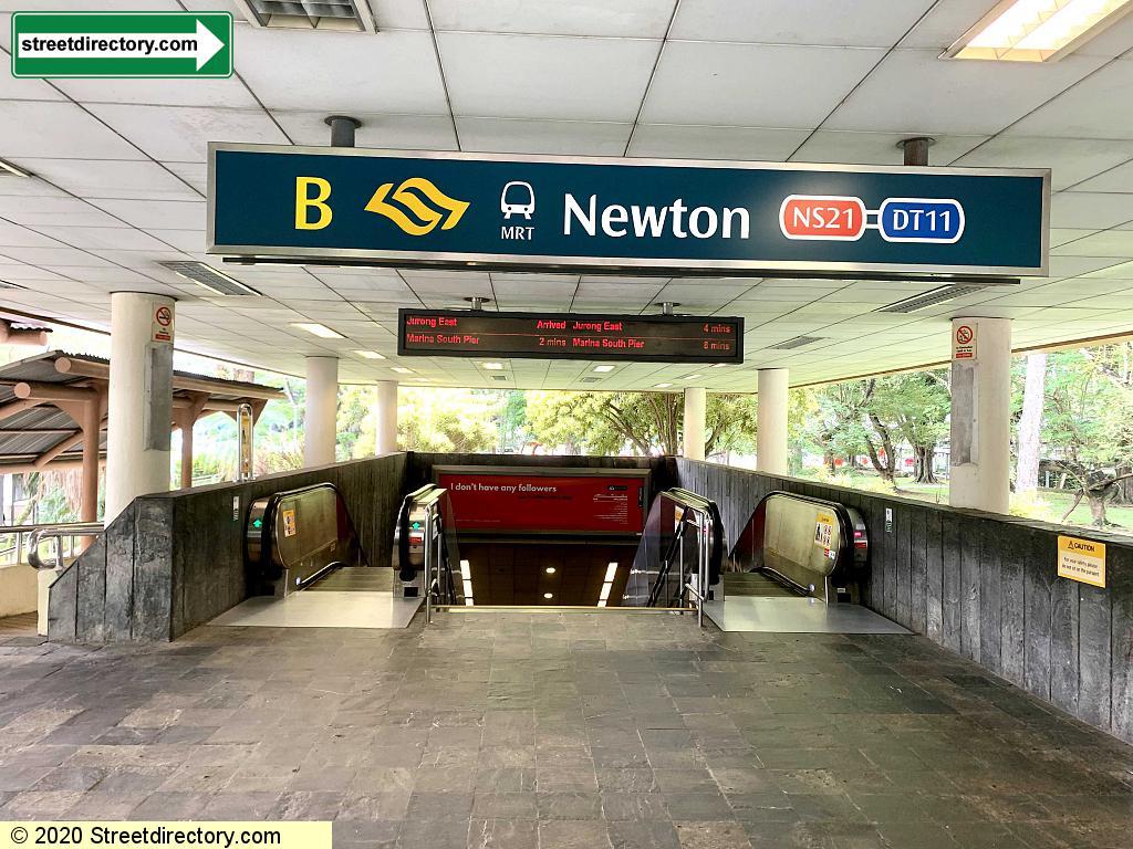 Entrance/Exit B - Newton MRT (NS21 / DT11)