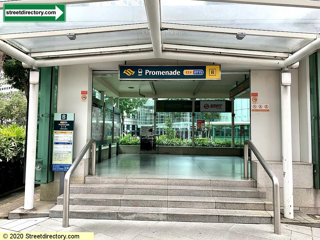Entrance/Exit B - Promenade MRT (CC4 / DT15)