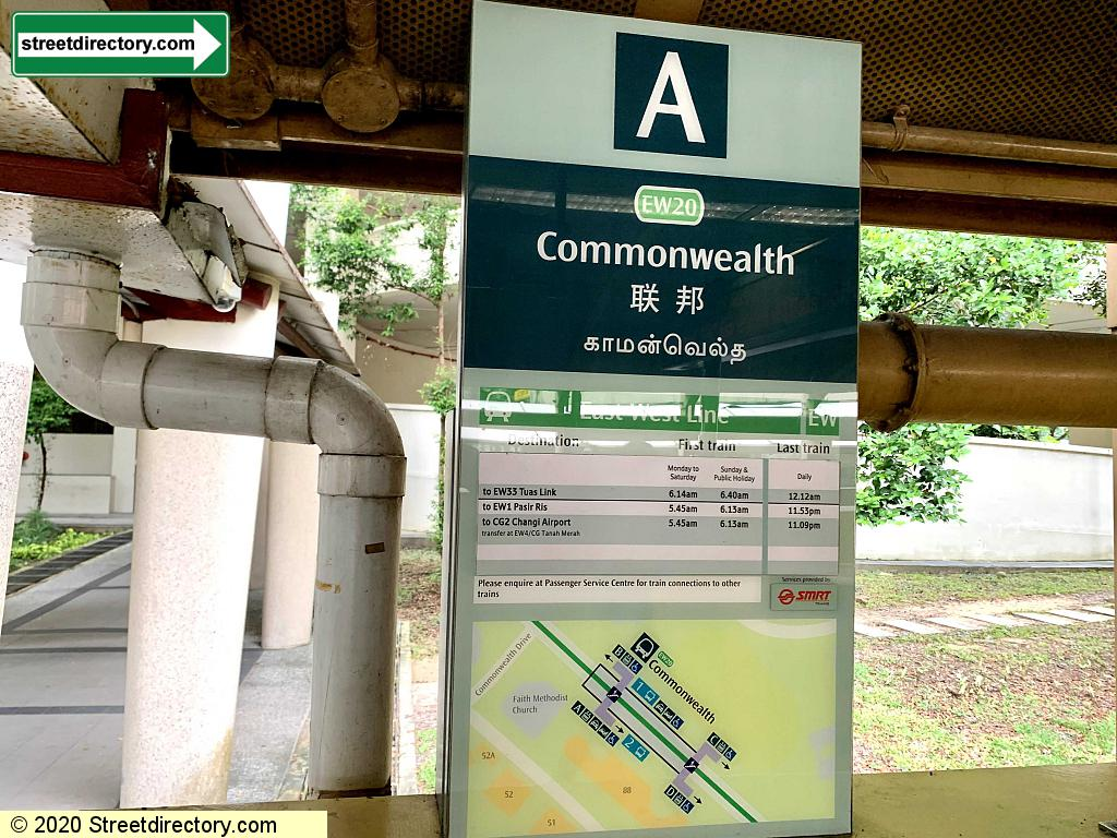 Entrance/Exit A - Commonwealth MRT Station (EW20)