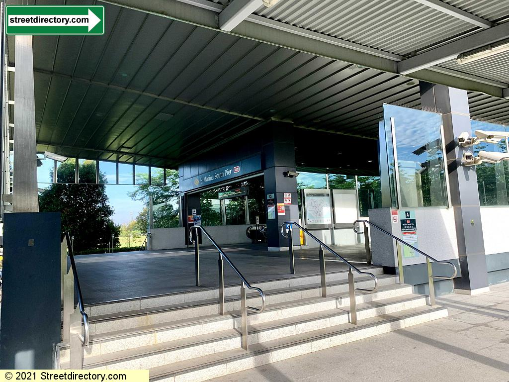 Entrance/Exit A - Marina South Pier MRT Station (NS28)