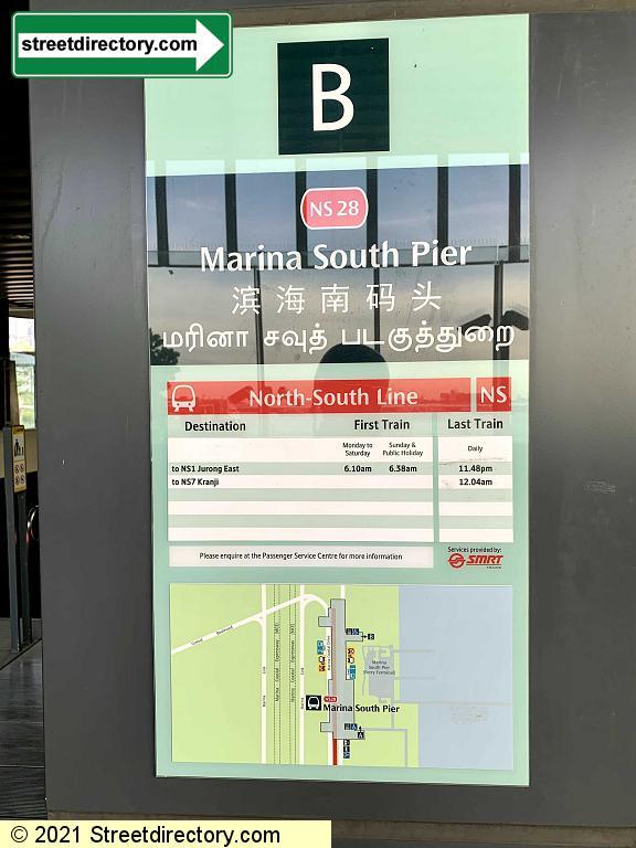Entrance/Exit B - Marina South Pier MRT Station (NS28)